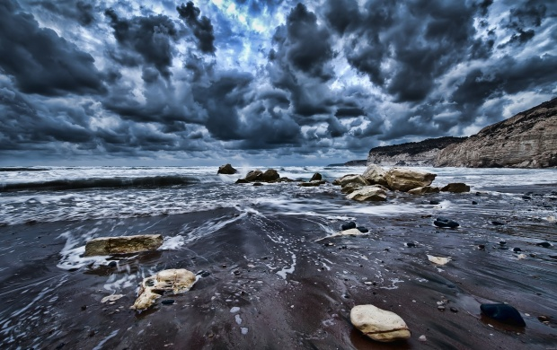 Stormy Clouds Over the Sea (click to view)