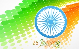 Stylish Indian Flag At 26 January