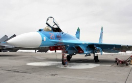 Su 27 Flanker Fighter Parking