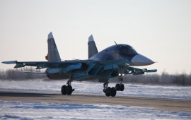 Su-34 Fullback Take Off