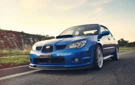 Subaru Impreza WRX Blue Car