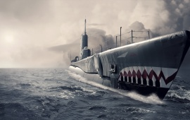 Submarine Ocean Art