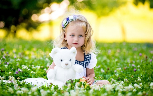 Summer Girl With White Bear (click to view)