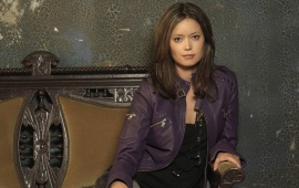 Summer Glau Purple Jacket