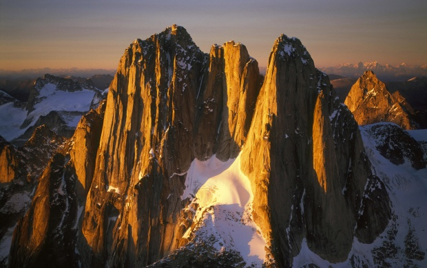 Sun-lighted Mountains (click to view)