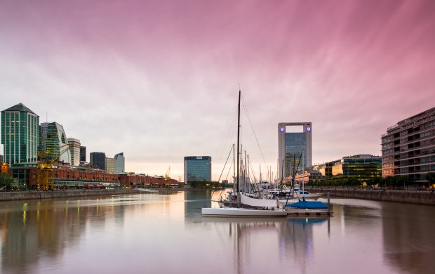 Sun Setting On Puerto Madero (click to view)
