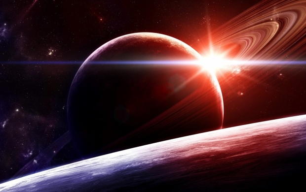 Sunrise In Space (click to view)