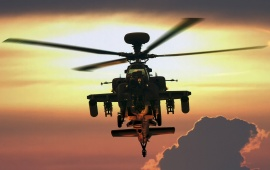 Sunset Ah-64 Apache Helicopter
