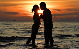 Sunset Love Romantic Couple