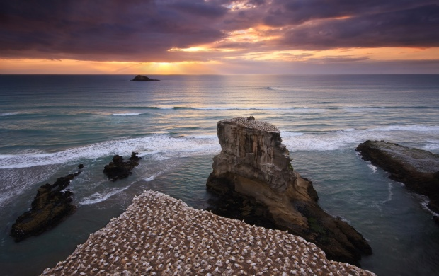 Sunset on Rocky Shores (click to view)