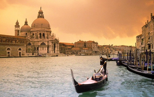 Sunset Over Grand Canal Venice Italy (click to view)