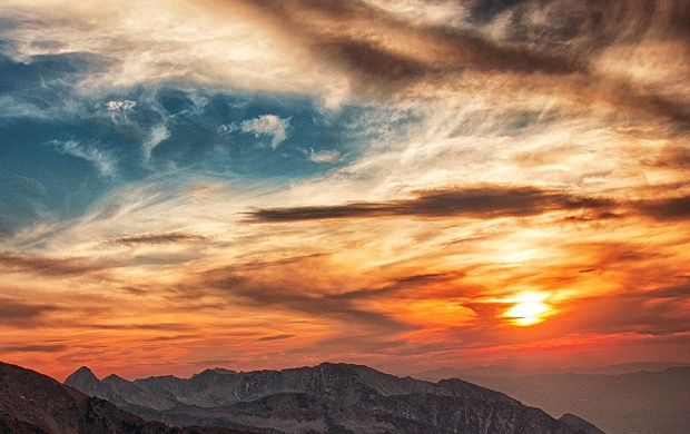 Sunset Over the Mountains (click to view)