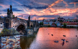 Sunset Prague City