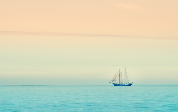 Sunset Sea Boat (click to view)