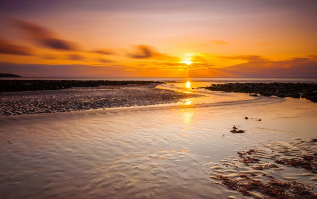 Sunset Sea Rocks Low Tide (click to view)
