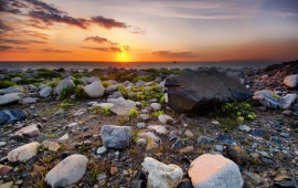 Sunset Sea Stones