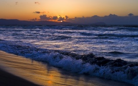 Sunset Sea Waves