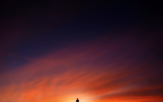 Sunset Sky Man (click to view)
