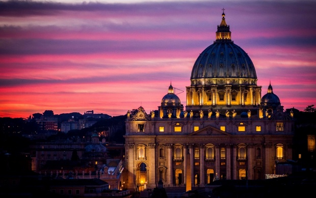 Sunset Vatican City In Rome (click to view)
