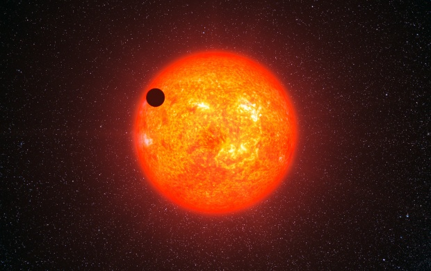 Super Earth Exoplanet GJ 1214 B (click to view)