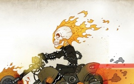 Super Heroes Ghost Rider Art