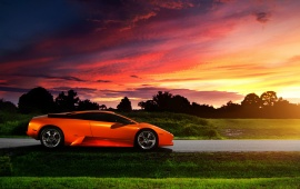 Super Orange Lamborghini Car