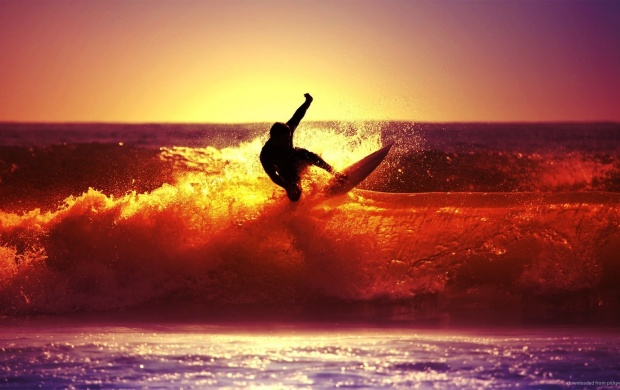 Surfer At Sunset (click to view)