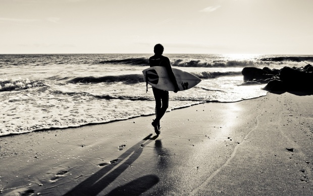Surfer On The Ocean Beach (click to view)