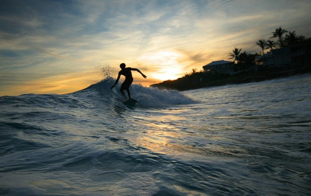 Surfer Silhouette (click to view)