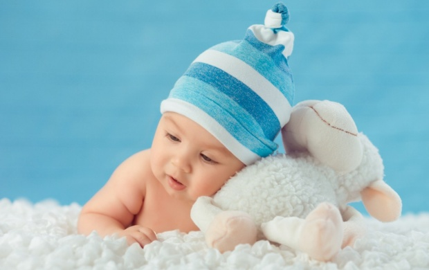 Sweet Baby And White Sheep Toy (click to view)