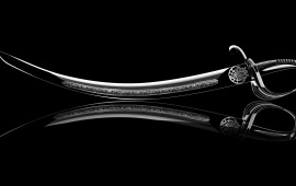 Sword Reflection Black Background