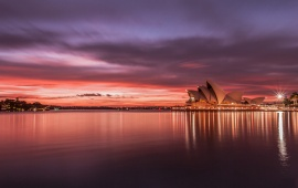 Sydney Opera House Sunset Australia