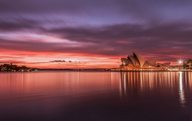 Sydney Opera House Sunset Australia (click to view)