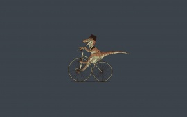 T Rex On Bicycle