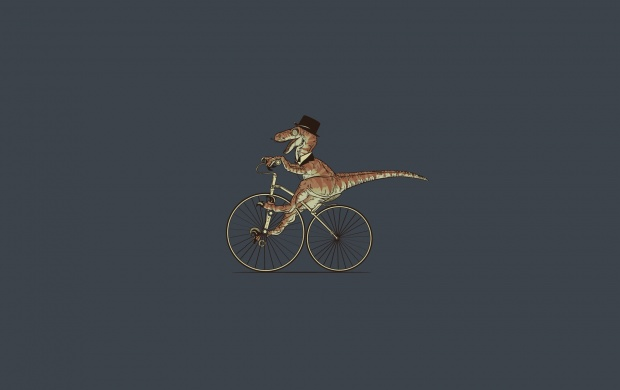 T Rex On Bicycle (click to view)