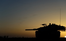 Tank Weapons Sunset
