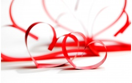 Tape Ribbon Red Heart