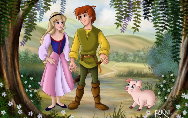 Taran And Eilonwy (click to view)