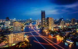 Thailand Night City Lights