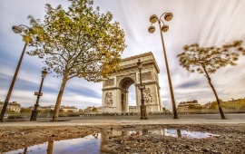 The Arc De Triomphe At Day