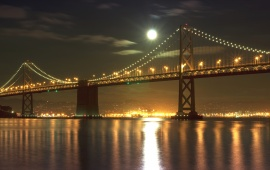 The Bay Bridge At Night