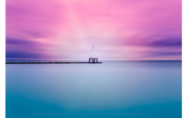 The Blue Water And Pink Sky (click to view)