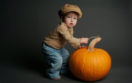 The Boy With Pumpkin