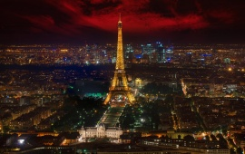 The Eiffel Tower France Night