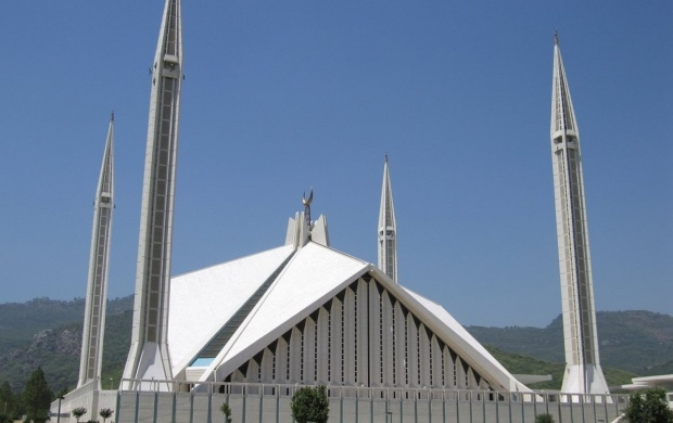 The Faisal Mosque (click to view)