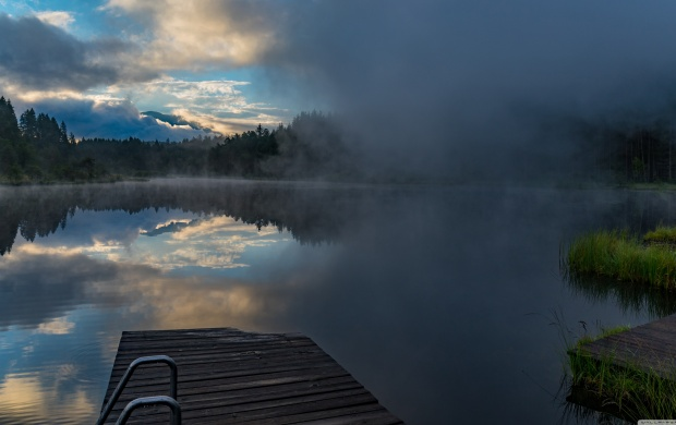 The Fog is Coming Over the Lake (click to view)