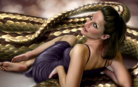 The Girl And Snake