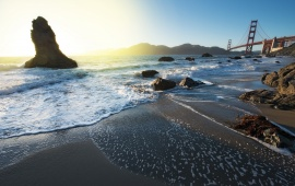 The Golden Gate Bridge From Marshall Beach
