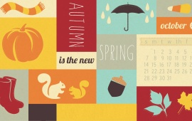 The New Spring October 2012 Calendar