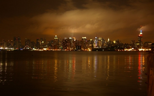 The New York Skyline At Night Wallpapers